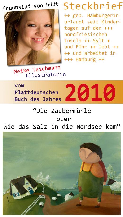Illustrationen von Meike Teichmann im Plattdeutschen Buch des Jahres 2010
