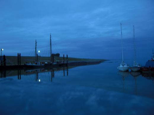 Nordseeinsel Pellworm bei Nacht