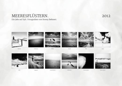 Ronny Behnert- Kalender 2012 für die Nordseeinsel Sylt