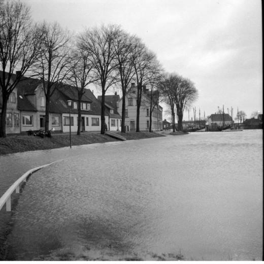 Tönning bei Sturmflut - historisch