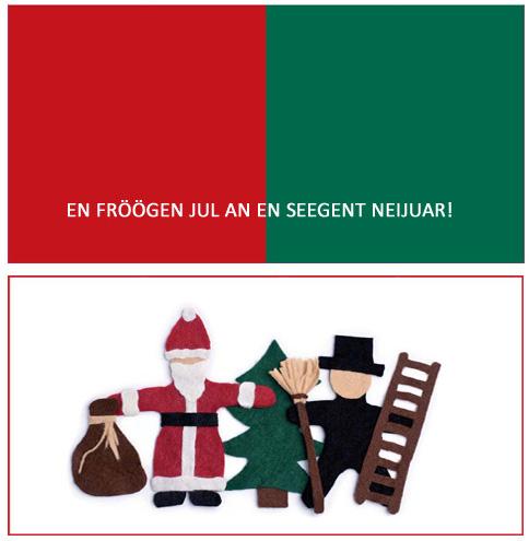 friesische Weihnachtskarte